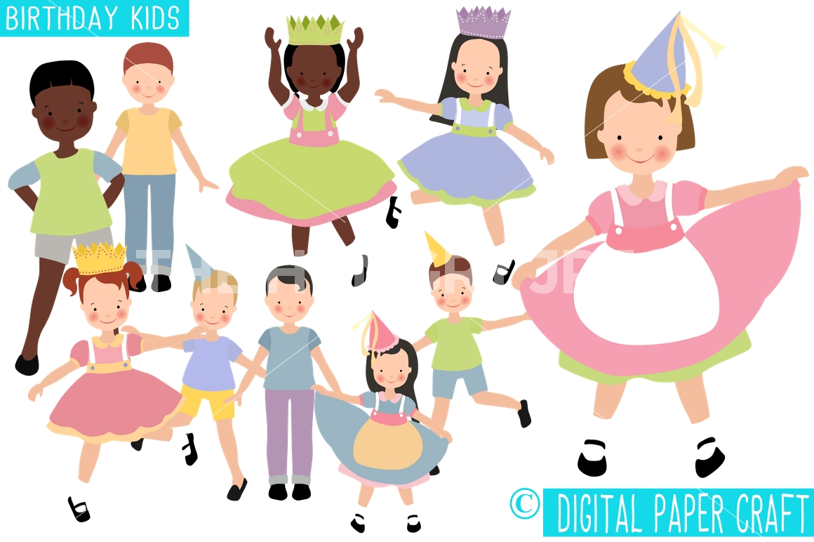 Celebration clipart party person Birthday Clipart Clipart Celebration Digital