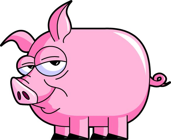 Fun clipart pig Best little on and path