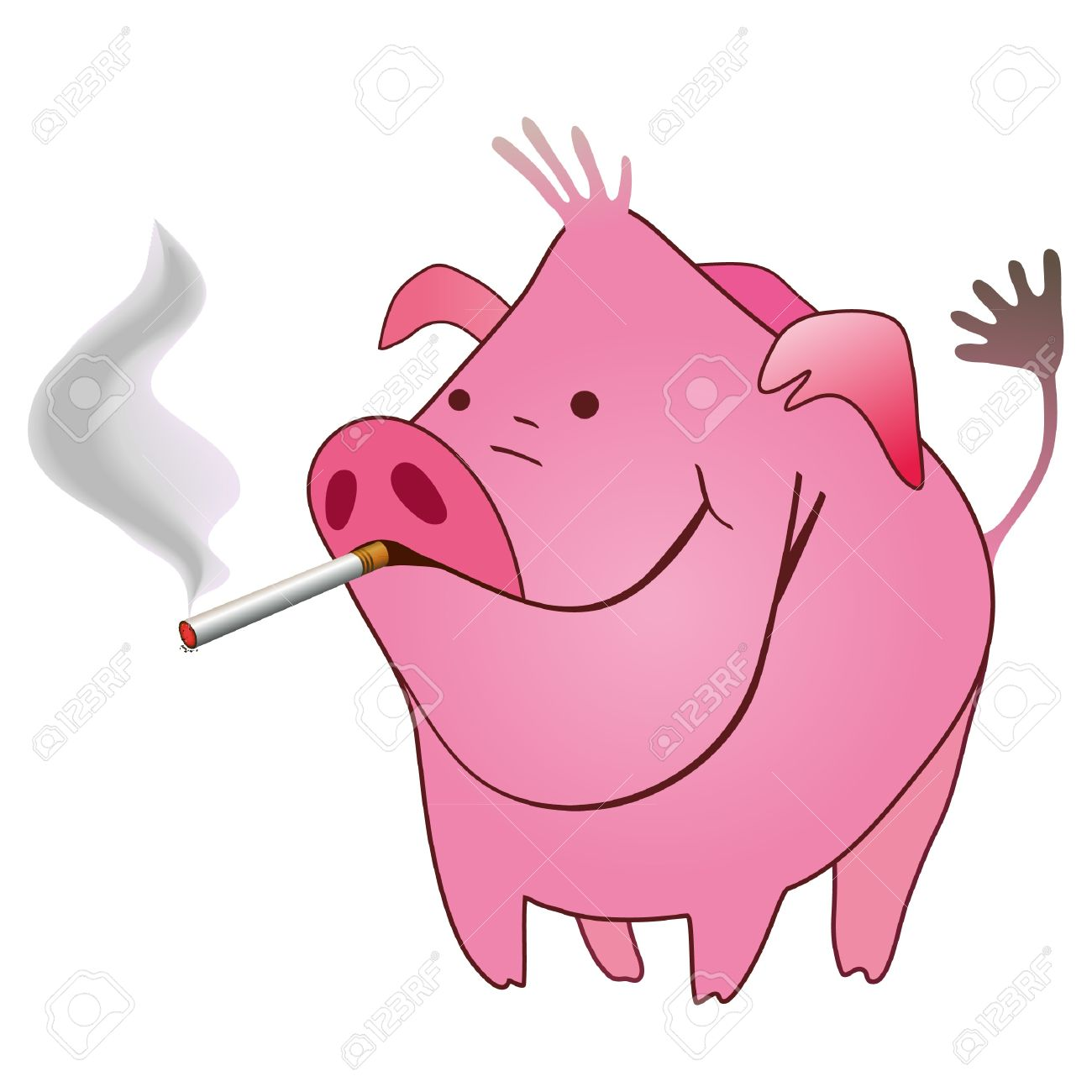 Fun clipart pig Pig Smoking Pictures Very Funny