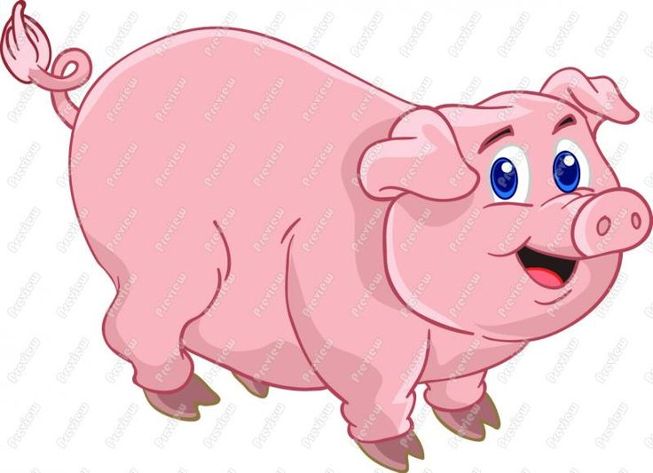 Fun clipart pig Cute Cartoon Clipart Cute Download