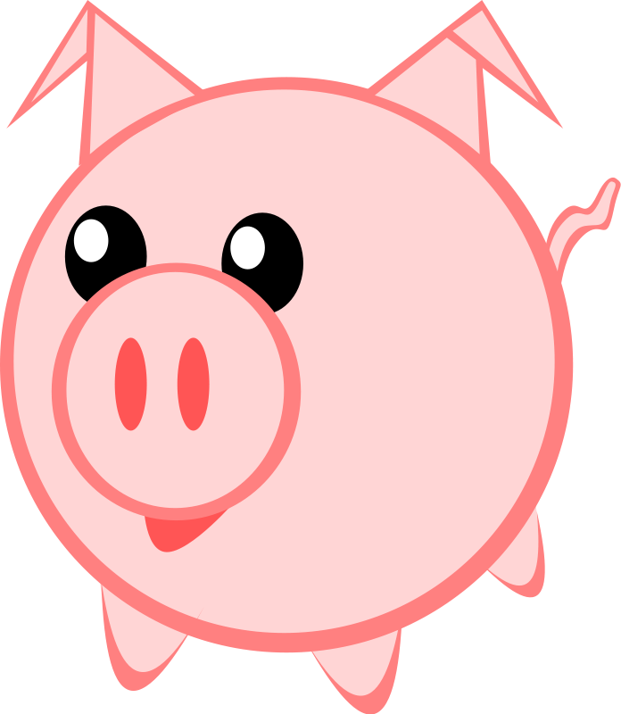 Fun clipart pig Pig Free Christmas Fun Clipart