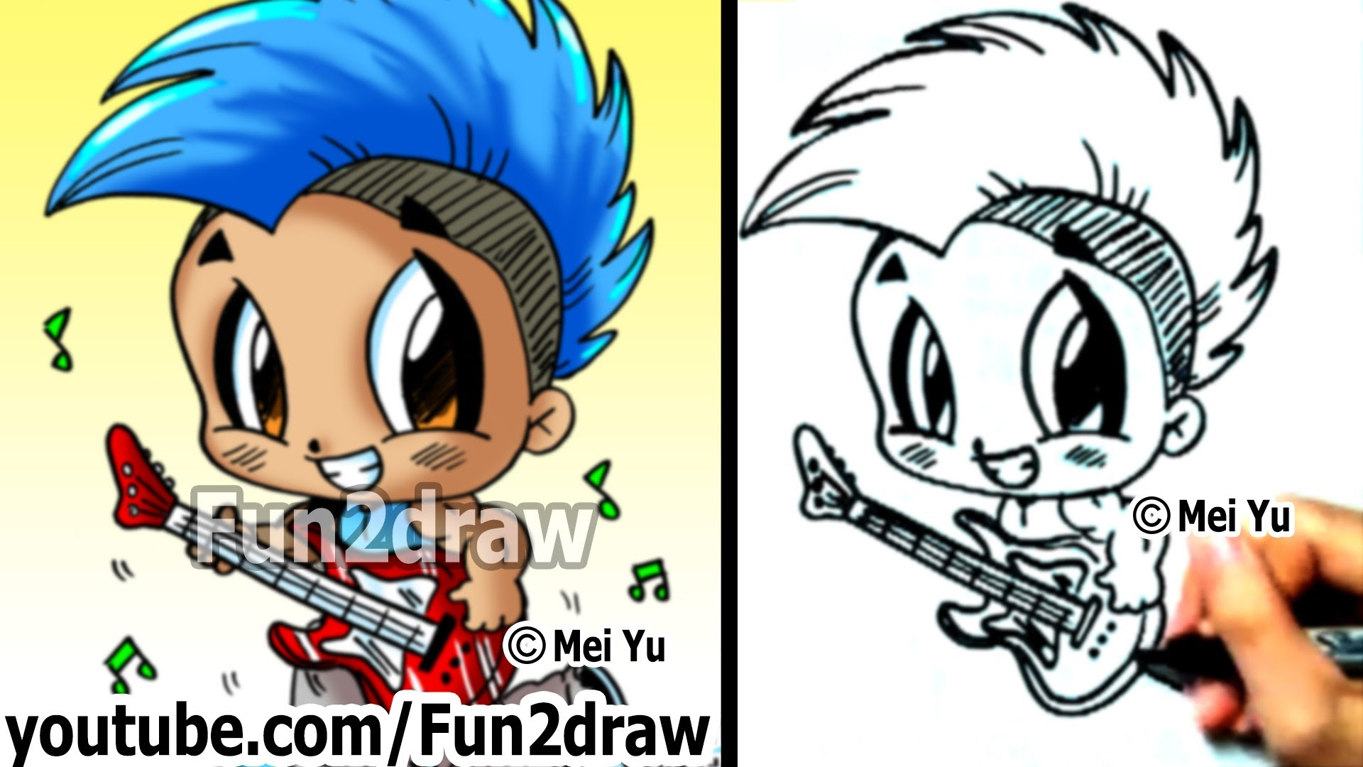 Manga clipart rock star To Rockstar Mohawk Chibi
