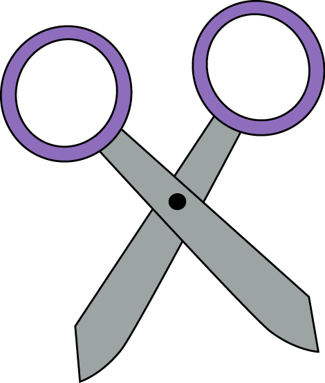 Fun clipart scissors Art Free Image Scissors Purple