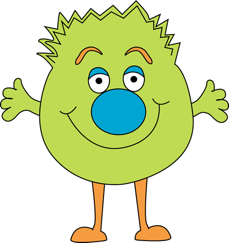Covered clipart funny Monster Clip Monster Green Art