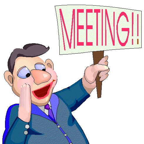 Meeting clipart meeting announcement #2