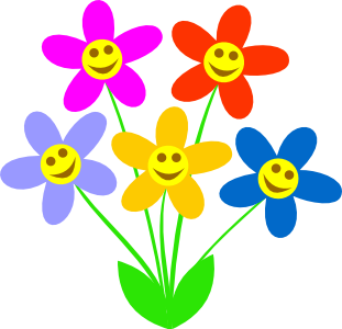 Smiley clipart flower Free Collection Clipart free Clipart
