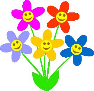 Smiley clipart flower Art Spring clip Clipart