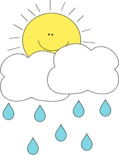Clouds clipart spring Art Behind Rain in Weather