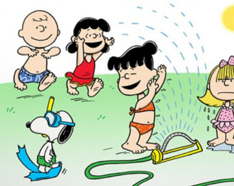 Fun clipart sprinkler Charlie Brown LARGER Snoopy in