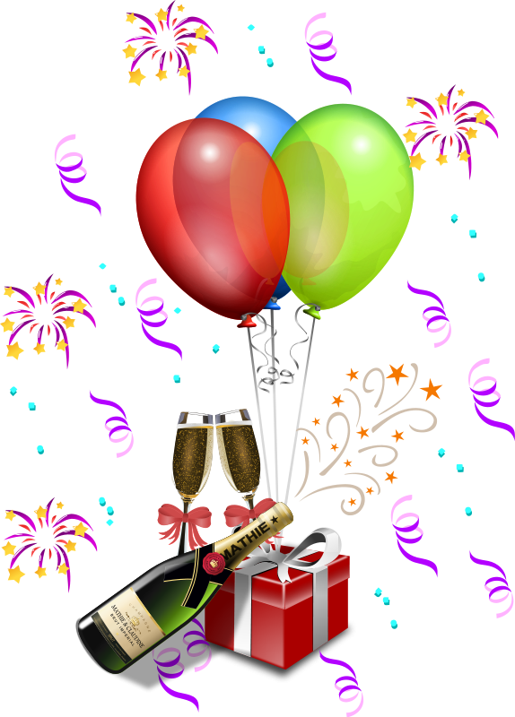 Champagne clipart confetti balloon Graphics champagne Free of Clipart