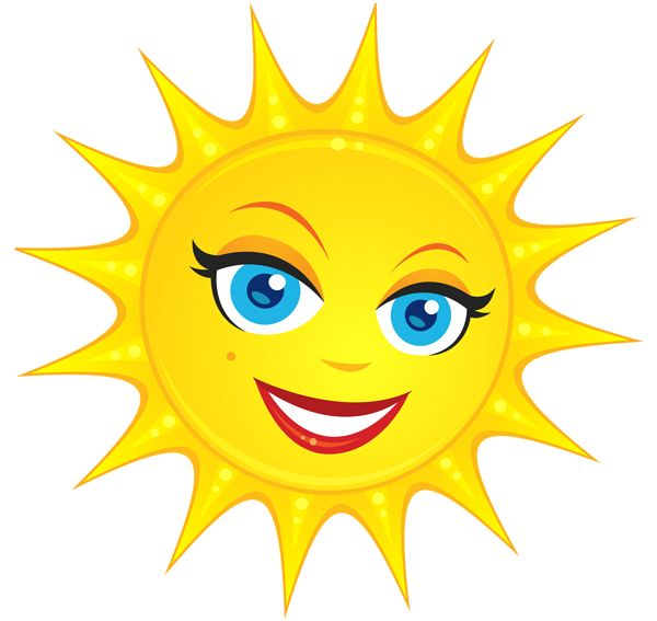 Adorable clipart sun Images and smileys on smileys