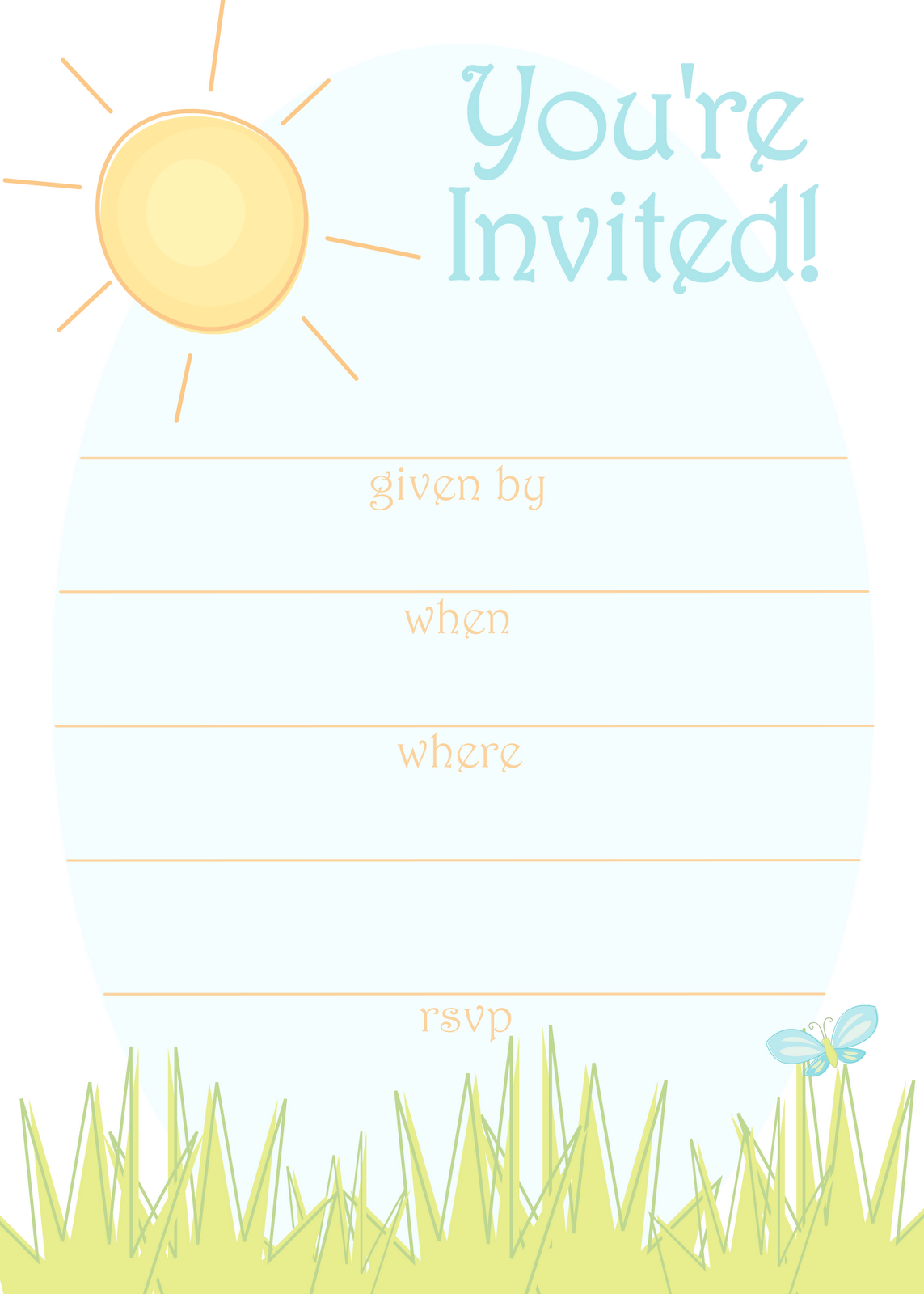 Fun clipart sunny day Blue Sunny Fun Summer Card