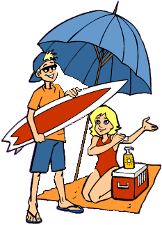 Beach clipart beach person Boy having Clipart vacation Girl