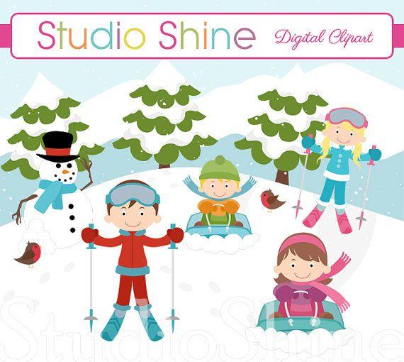 Winter clipart fun kid – Clip Art Clipart Fun