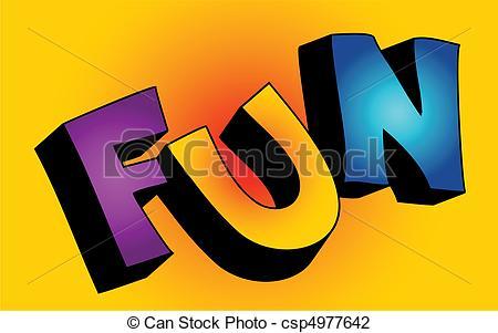 Fun clipart the word Word Clipart 3d  Fun