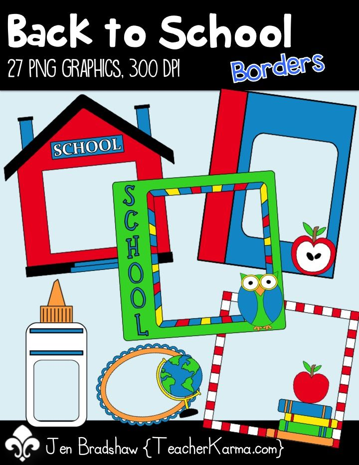 Fun clipart they Best School these LOVE Borders