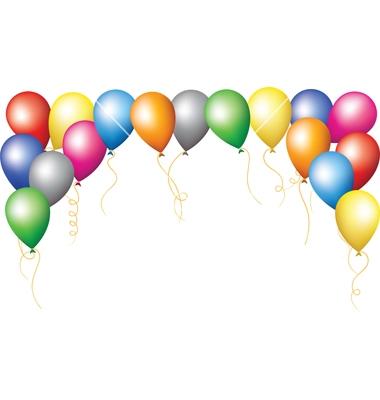 Balloon clipart boarder Art Borders Clip Clip Balloon