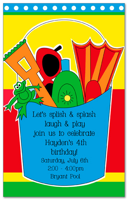 Fun Time clipart beach party Birthday Fun Bucket Birthdays Invitations
