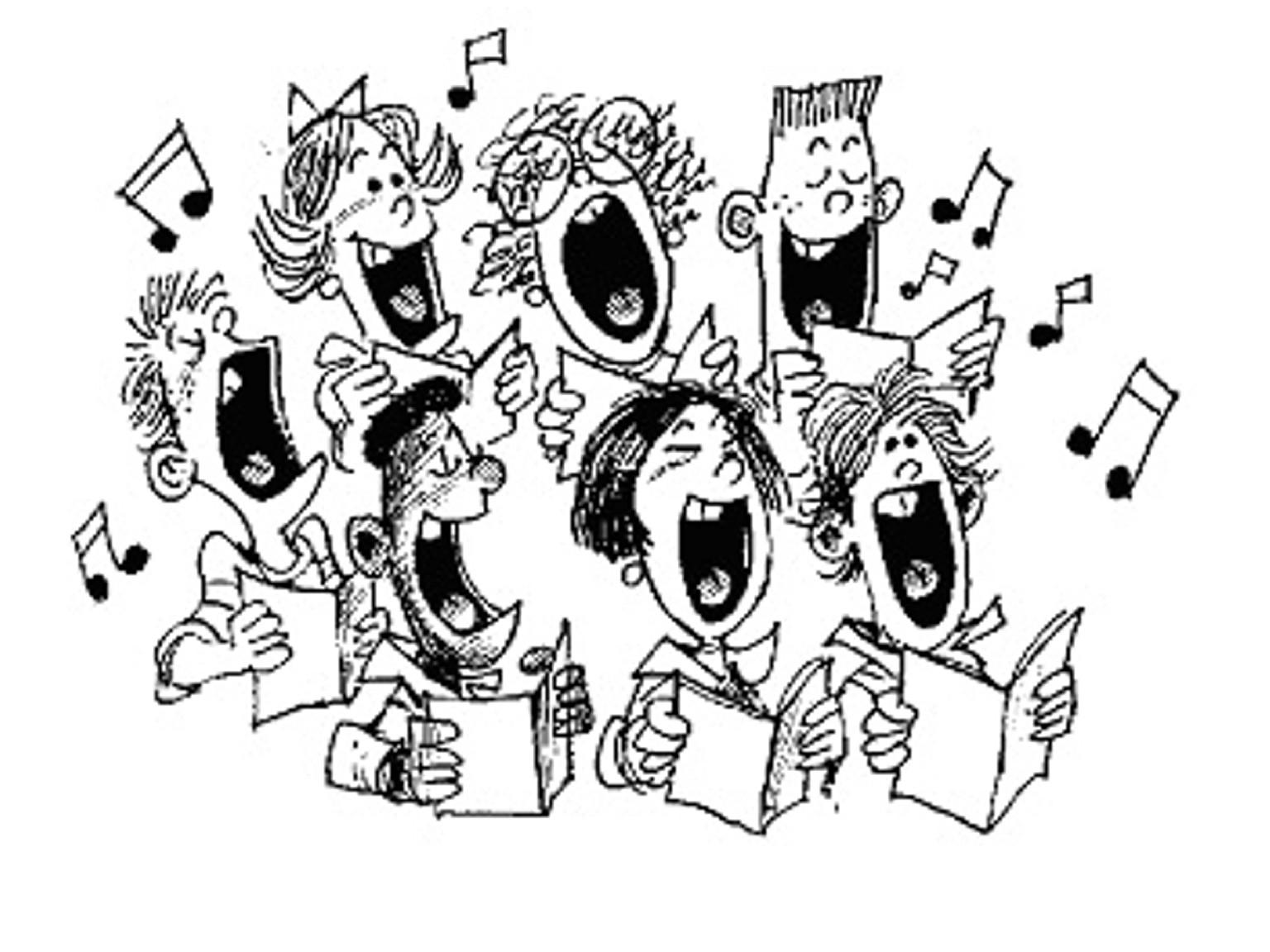 Winter clipart choir Church Art  Singing Church