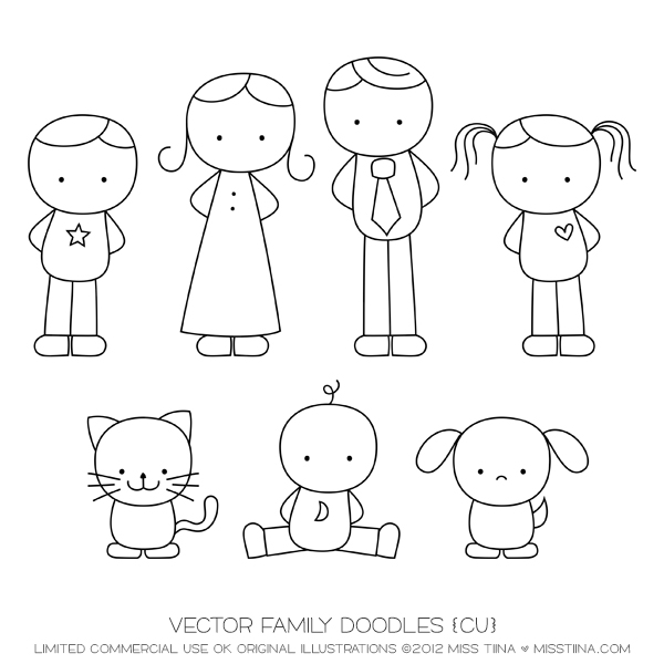 Drawn tie Art  Illustrations Clipart Doodles