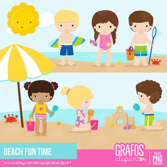 Fun Time clipart fun friday Beach Summer Set on Clipart