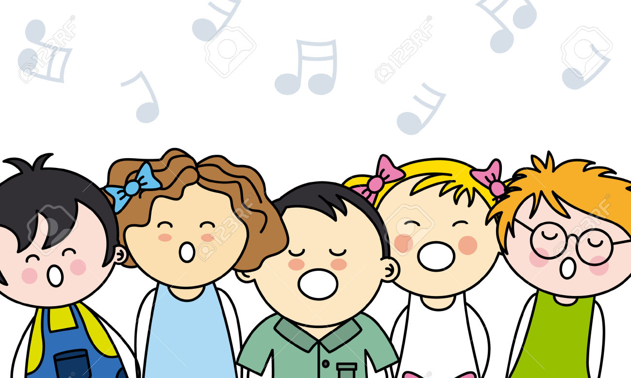 Singer clipart kid choir - Pencil and in color singer ...