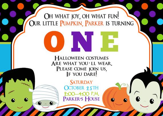Fun clipart invited Party Halloween Invitations Birthday Party