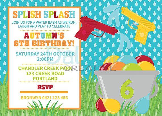 Fun clipart invited Water Balloon Pinterest Birthday Outdoor