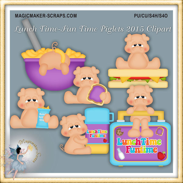 Fun Time clipart june Lunch Clipart shoppe Pig Time