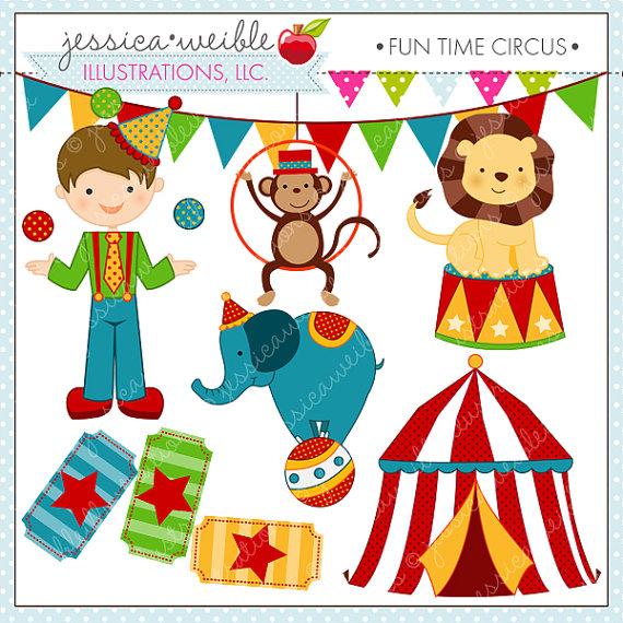 Tent clipart cute  Time Digital Clipart Circus
