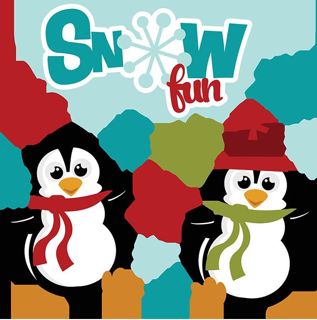 Penguin clipart winter break Penny Clipart Half Fun Snow