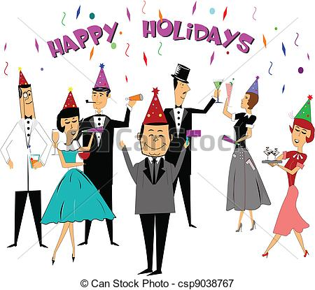 Celebration clipart office party Holidays of Illustration seasonal