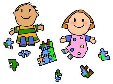 Puzzle clipart social skill Children to hand But Time