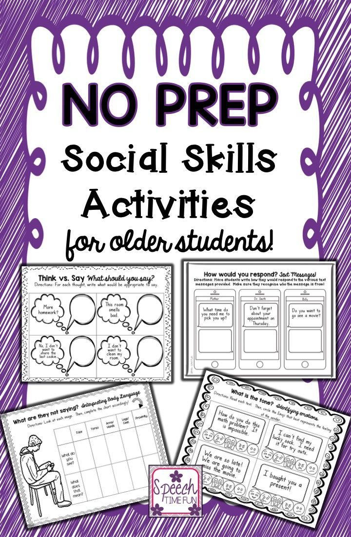 Fun Time clipart social skill No Skills Older Students Social