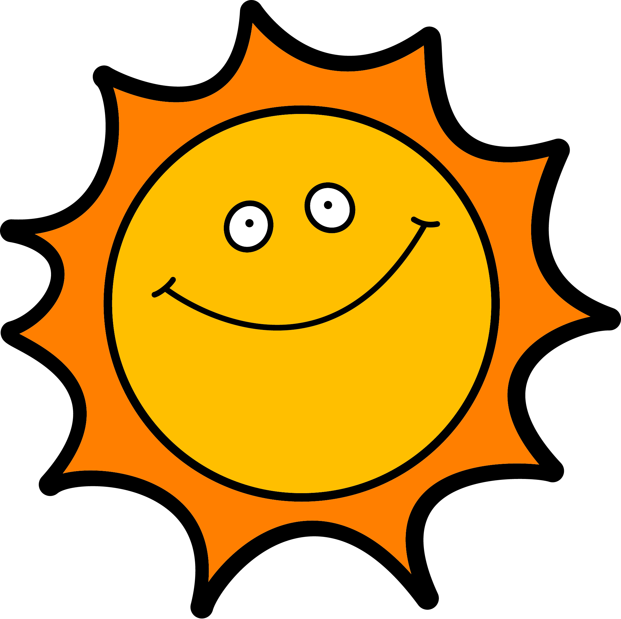 Bright clipart hot summer sun And sun art clipart public