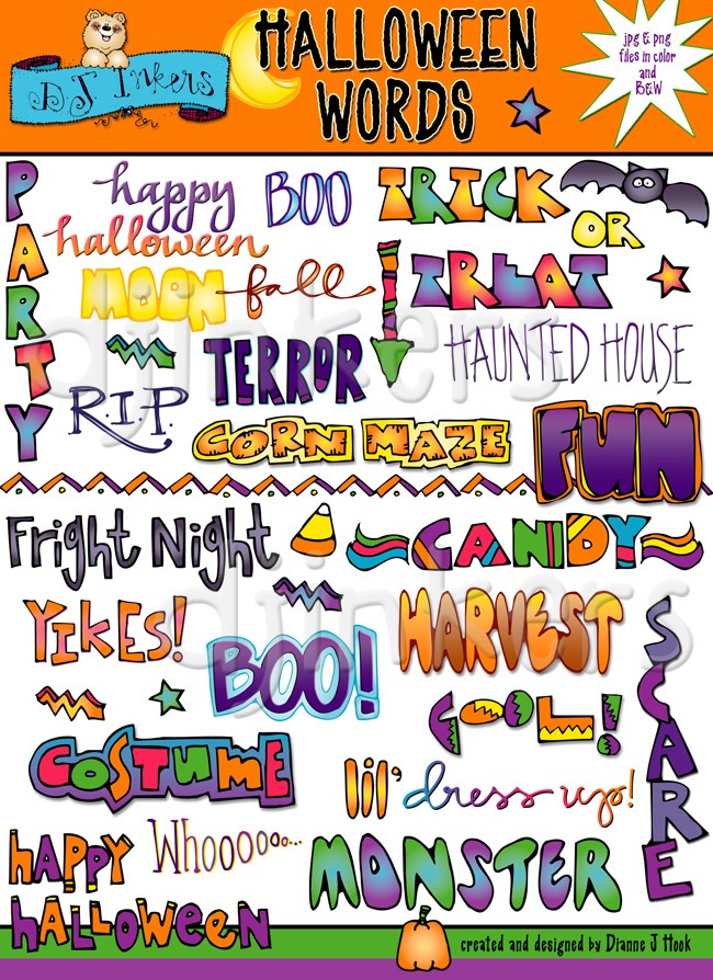 Spooky clipart halloween kid With quotes thoughts printables Clipart