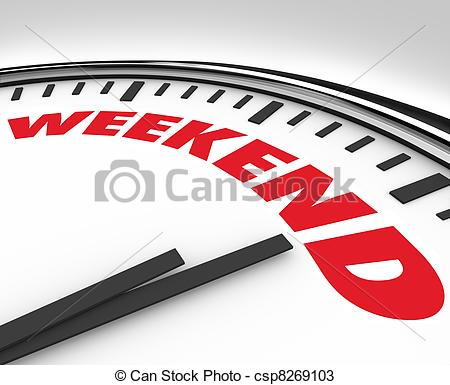 Fun Time clipart the word  Drawings Stock Illustration Weekend