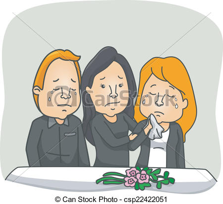 Funeral clipart Clipart Featuring People Vector Service