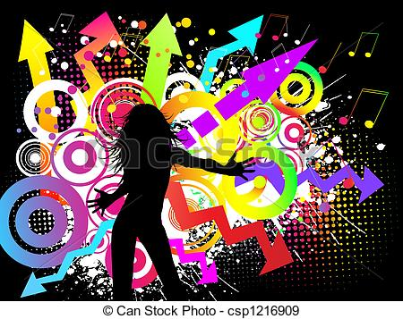 Funky clipart On and party a a