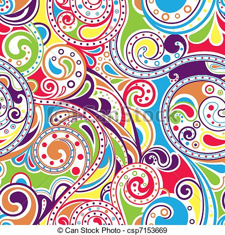 Funky clipart Seamless 77 Scroll Funky Illustration