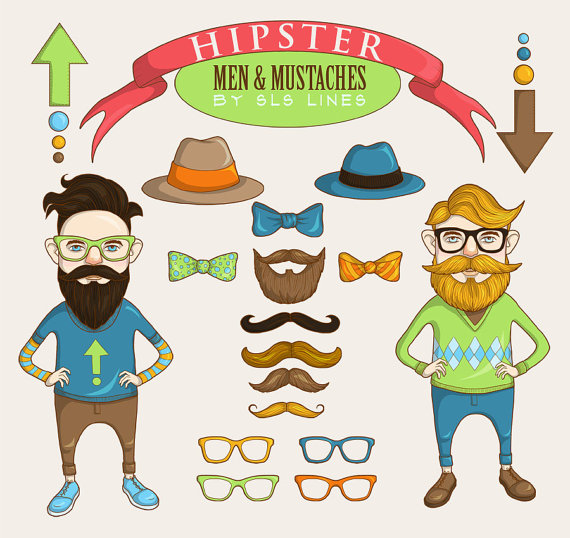 Hipster clipart Use men from clip clipart