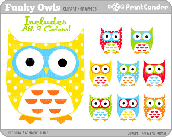 Funky clipart Commercial cute Digital Use Personal