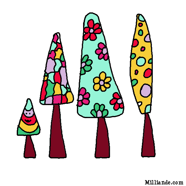 Funky clipart Trees Coloring Clipart HOP Coloring