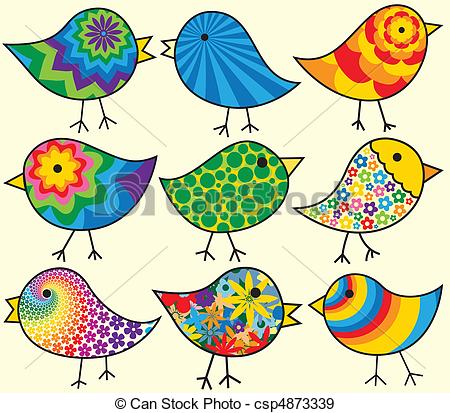 Brds clipart nine Add Clipart Birds Birds Colorful