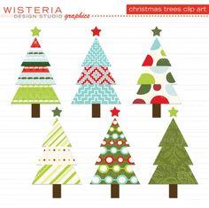 Christmas Tree clipart funky Art Tree art Christmas clip