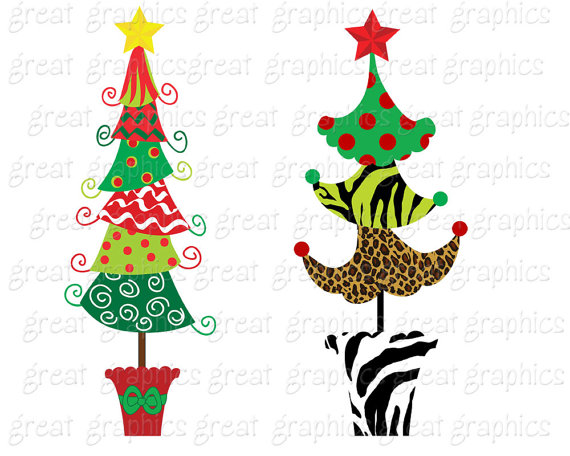 Christmas Tree clipart funky Digital Clip Clipart file Tree