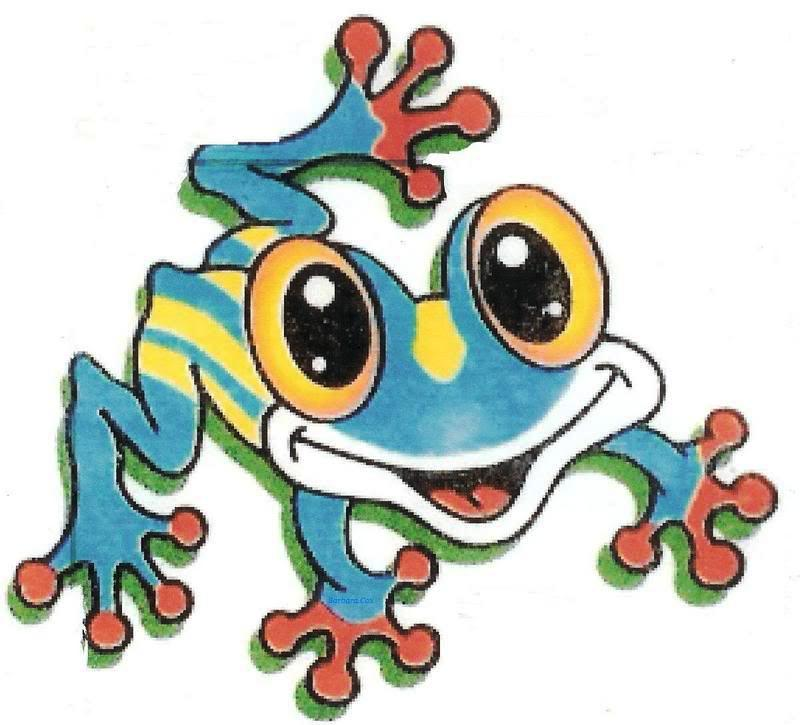 Amd clipart frog Art on Blue Download Free