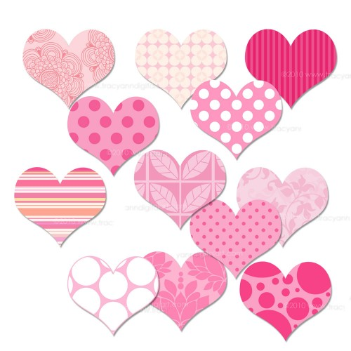 Hearts clipart pink heart Clipart heart Cute – collection