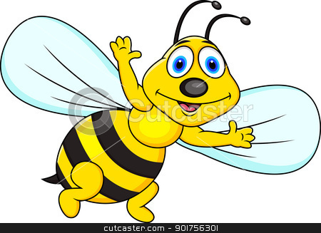 Bee clipart cartoon character  Collection animation pirate Funny