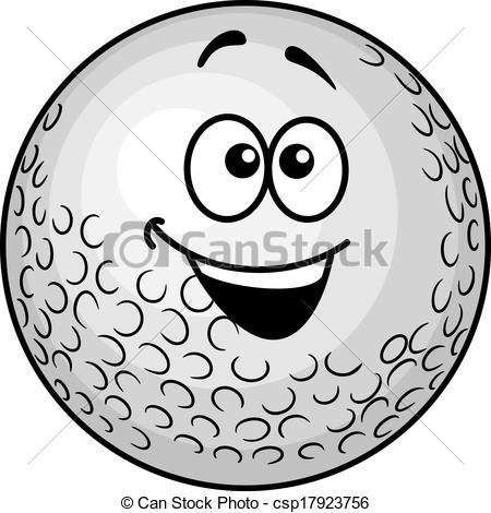 Golf Ball clipart cartoon Golf  cartoon Funny smiling